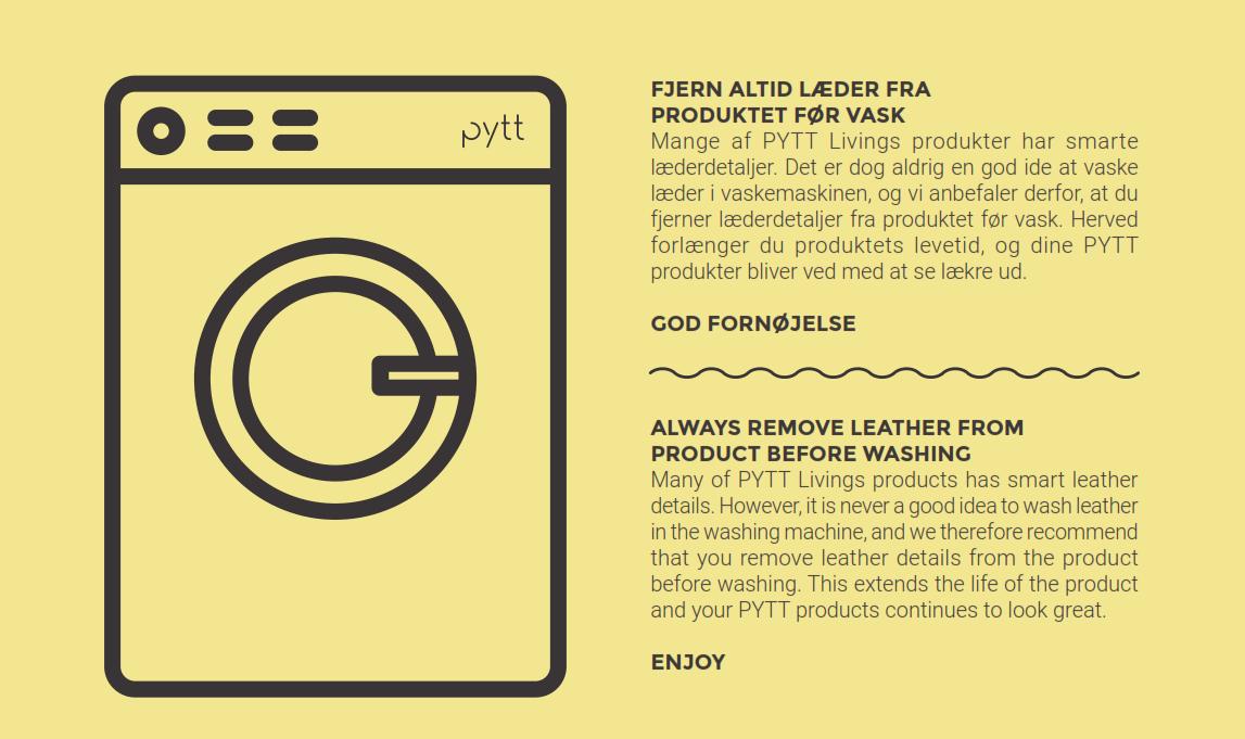 Vaskeanvisning, Læderprodukter